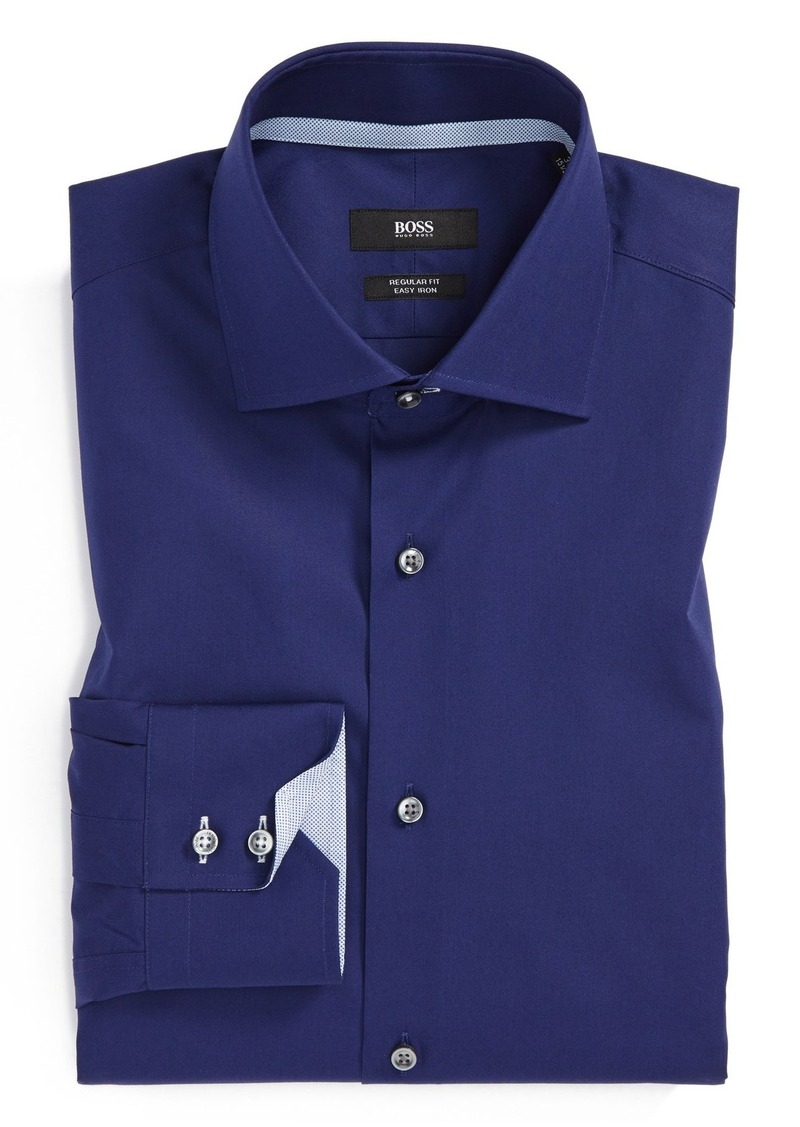 Hugo boss boss 39 gregory 39 ww regular fit easy iron solid for Hugo boss dress shirts