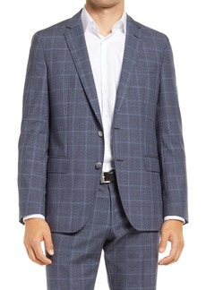 Hugo Boss BOSS Hartlay Classic Fit Windowpane Wool Sport Coat