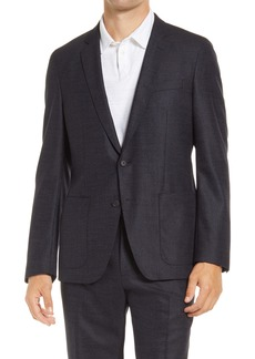 Hugo Boss BOSS Haven Classic Fit Stretch Wool & Silk Sport Coat