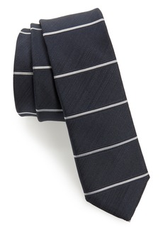 Hugo Boss BOSS Horizontal Stripe Silk Skinny Tie