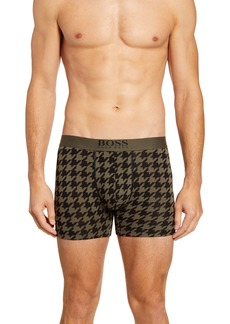 Hugo Boss BOSS Houndstooth Stretch Cotton Boxer Briefs