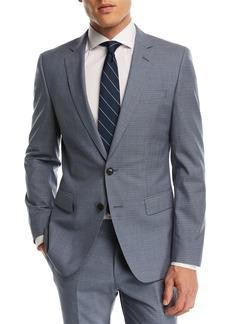 Hugo Boss Huge Genius Small Windowpane Two-Piece Wool Suit
