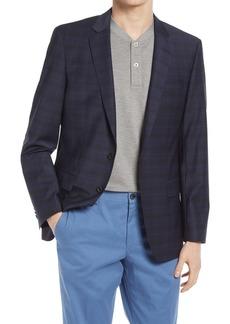 Hugo Boss BOSS Huge Slim Fit Plaid Wool Blend Sport Coat