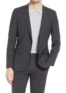 Hugo Boss BOSS Huge Trim Fit Stretch Plaid Sport Coat