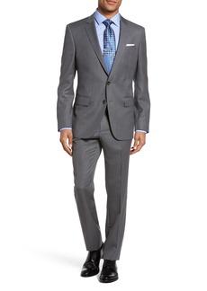 Hugo Boss BOSS Huge/Genius 11 Trim Fit Stripe Wool Suit