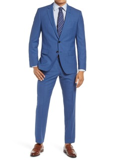 Hugo Boss BOSS Huge/Genius Slim Fit Plaid Wool Suit