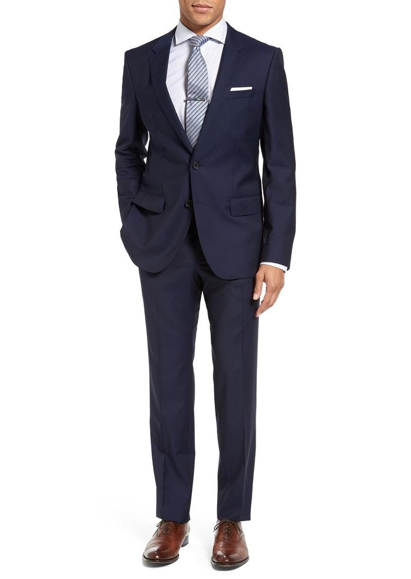 1b1a0383 Hugo Boss BOSS Huge/Genius Trim Fit Navy Wool Suit | Suits