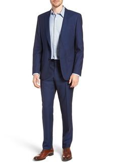 Hugo Boss BOSS Huge/Genius Trim Fit Plaid Wool Suit