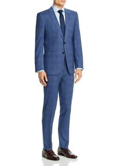 Hugo Boss BOSS Huge/Genius Wool Blue Plaid Slim Fit Suit
