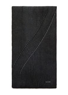 BOSS Hugo Boss Ballos Virgin Wool Ribbed Scarf