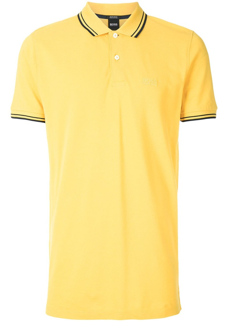 b50d5b28 Hugo Boss Boss Hugo Boss contrast collar polo shirt - Yellow ...