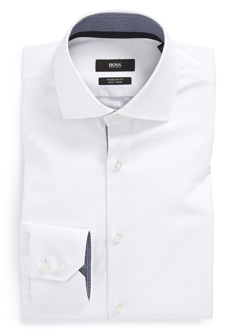 Hugo boss boss 39 eraldin 39 ww regular fit easy iron solid for Hugo boss dress shirts