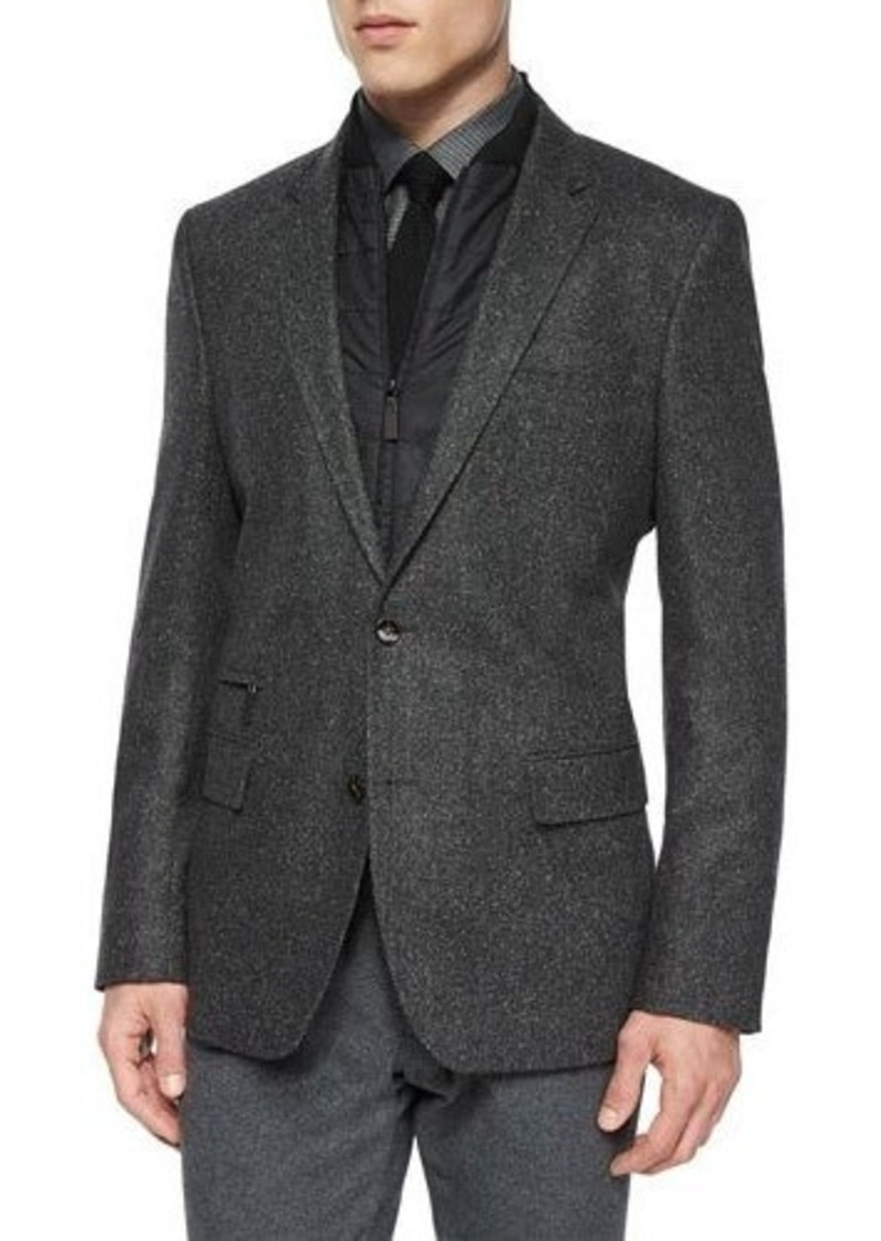 hugo boss boss hugo boss herringbone two button jacket with removable gilet sportcoats blazers. Black Bedroom Furniture Sets. Home Design Ideas