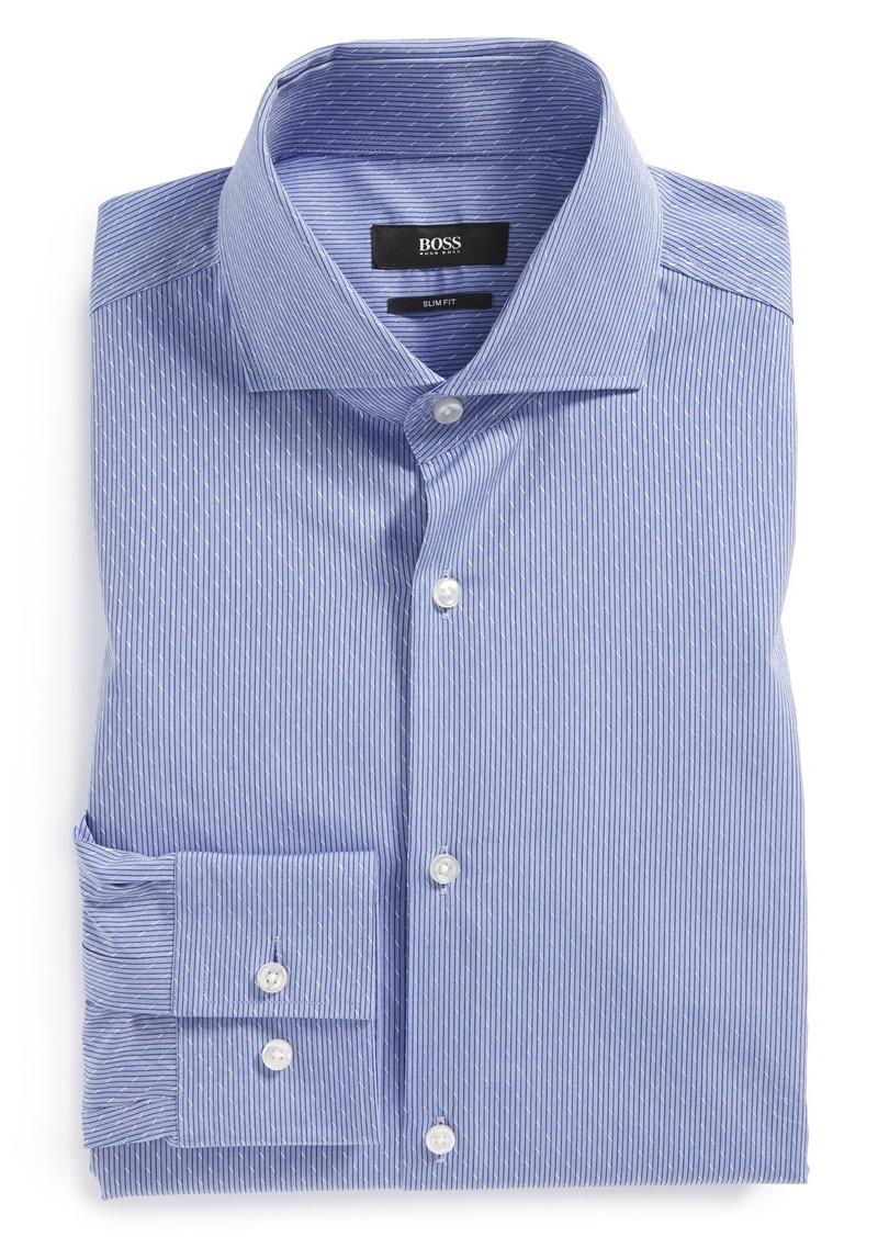 Hugo boss boss 39 jason 39 ww slim fit dress shirt dress shirts for Hugo boss jason shirt