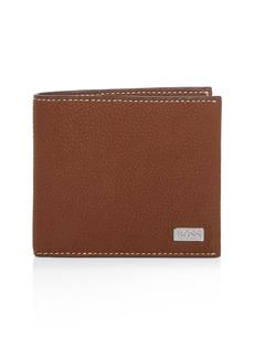 BOSS Hugo Boss Leather Bi-Fold Wallet