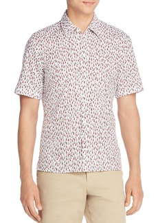 Hugo Boss BOSS Lukka Short-Sleeve Sailboat-Print Regular Fit Shirt