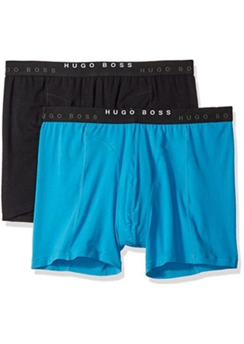 BOSS HUGO BOSS Men's 2-Pack Cyclist Solid Boxer Brief