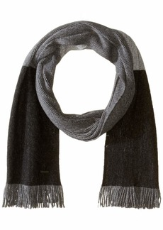 BOSS Hugo Boss Men's Mandus Striped Wool Scarf black One size