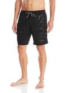 Hugo Boss BOSS Men's Orca Solid Swim Trunk Black Small