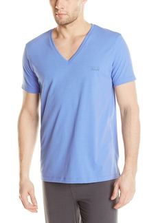 BOSS HUGO BOSS Men's Pique Deep V-Neck T-Shirt