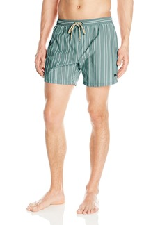 BOSS HUGO BOSS Men's Salmon Stripe Swim Trunk