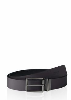 BOSS Hugo Boss Men's Timothy Logo Embossed Leather Belt black