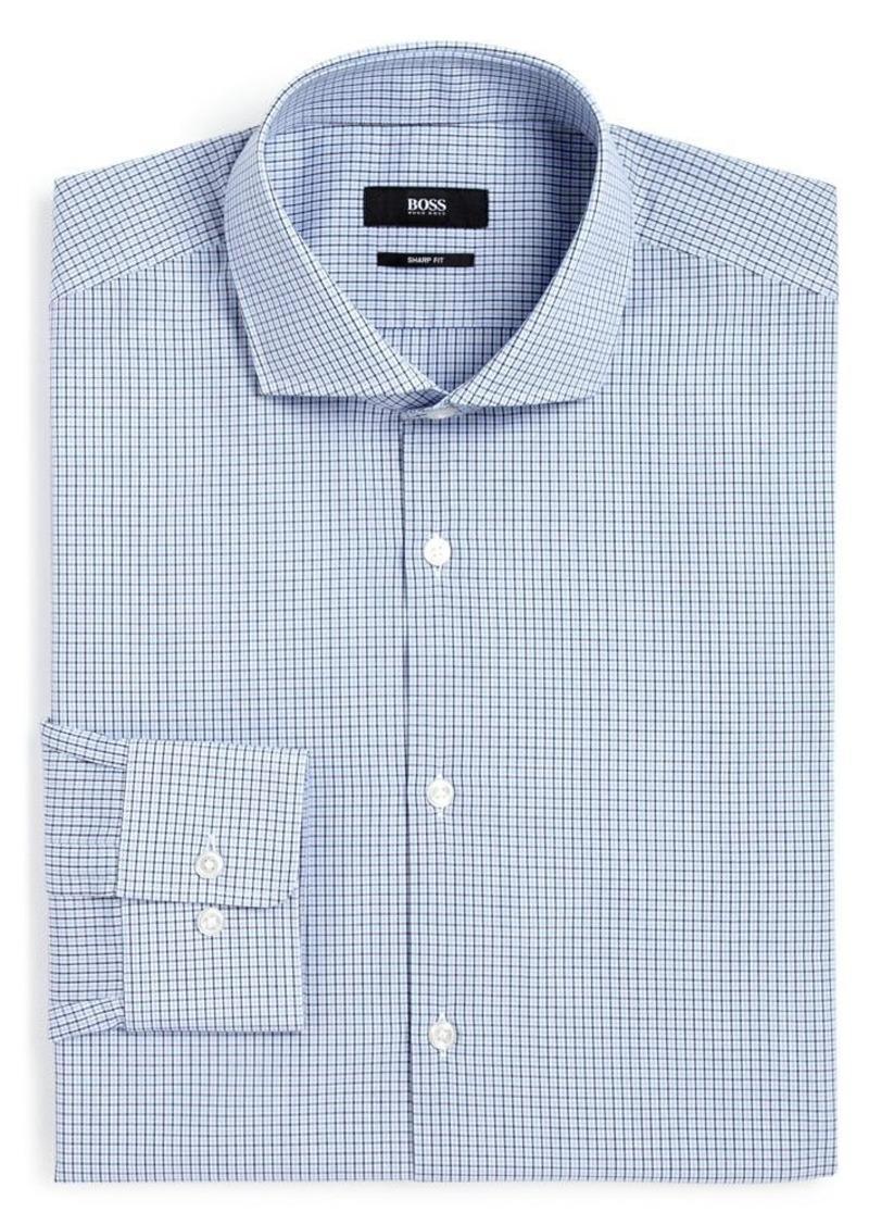 Hugo boss hugo boss mini gingham regular fit dress shirt for Hugo boss dress shirts
