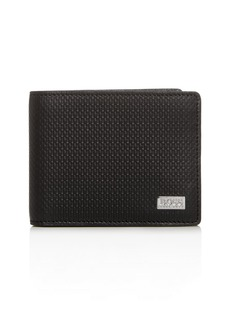 BOSS Hugo Boss Printed Leather Bi-Fold Wallet