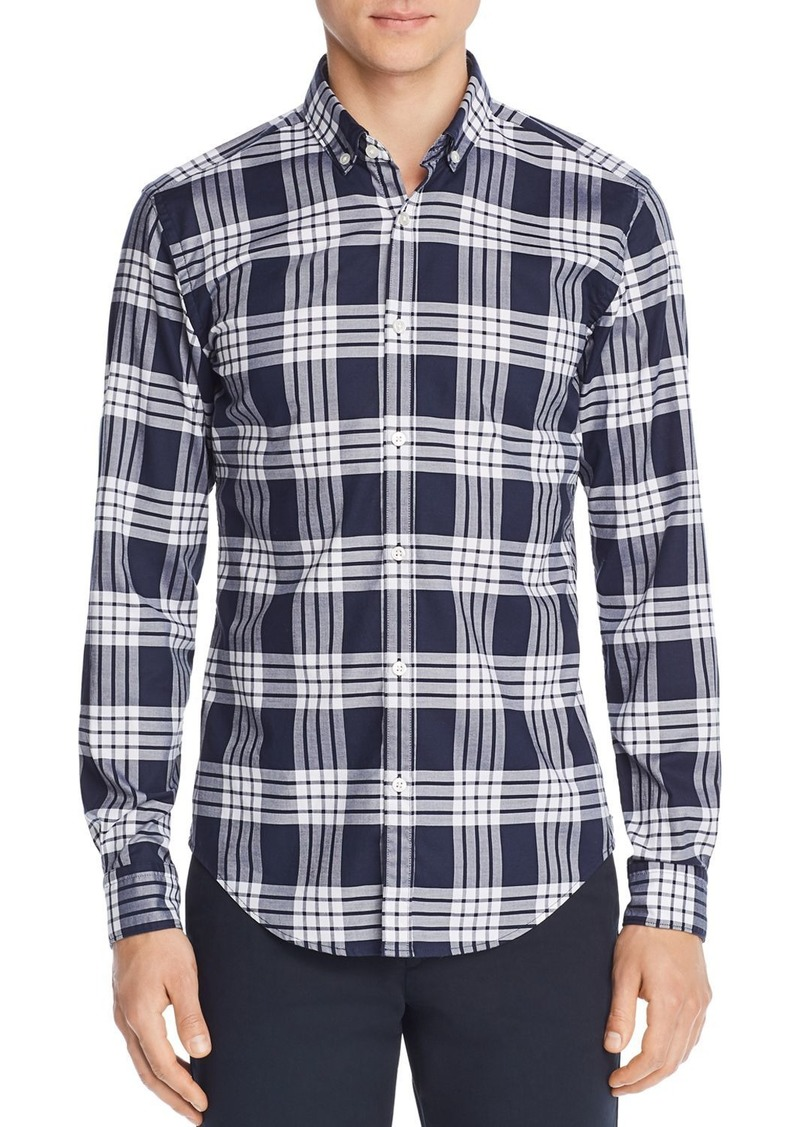 Hugo Boss BOSS Rikard Classic Check-Print Slim Fit Button-Down Shirt