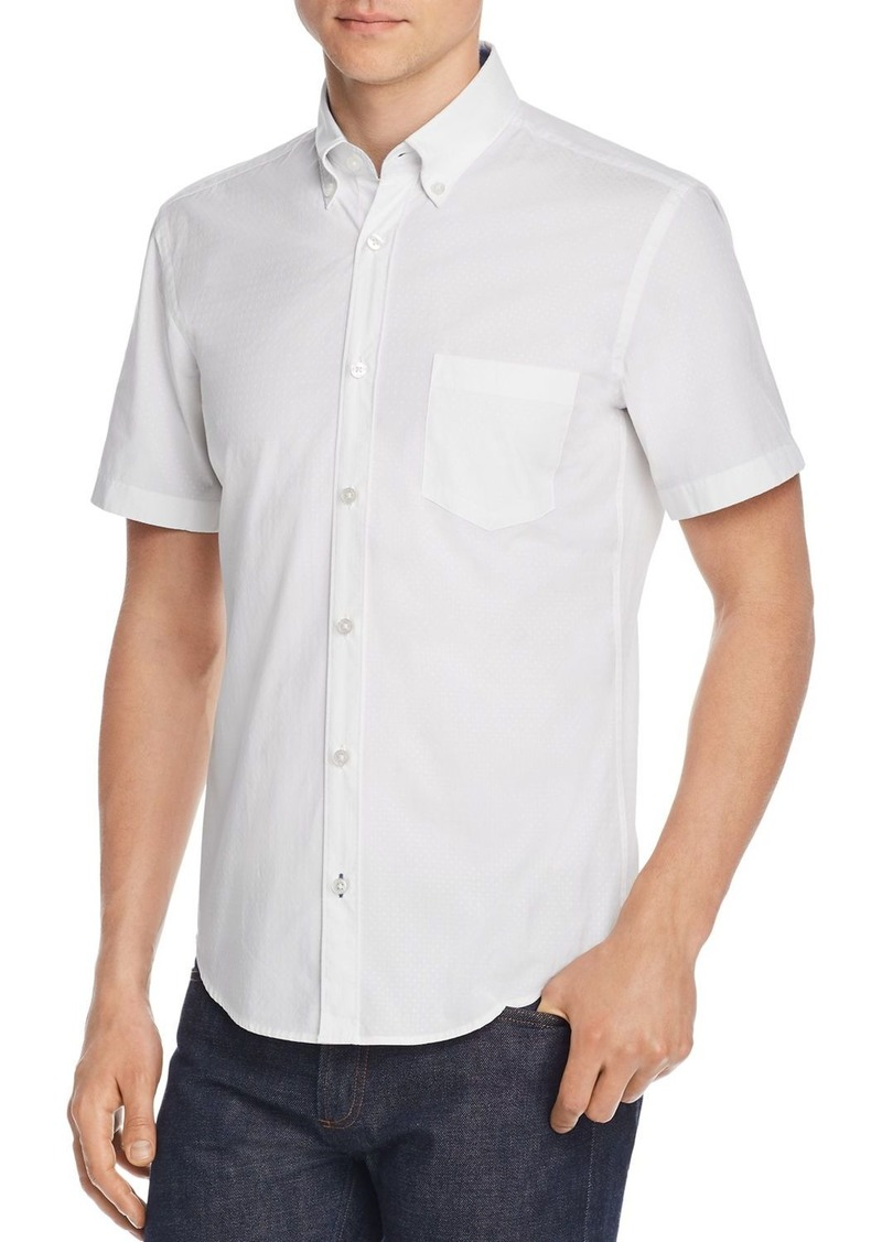 Hugo Boss BOSS Roddy Short-Sleeve Slim Fit Dobby Button-Down Shirt