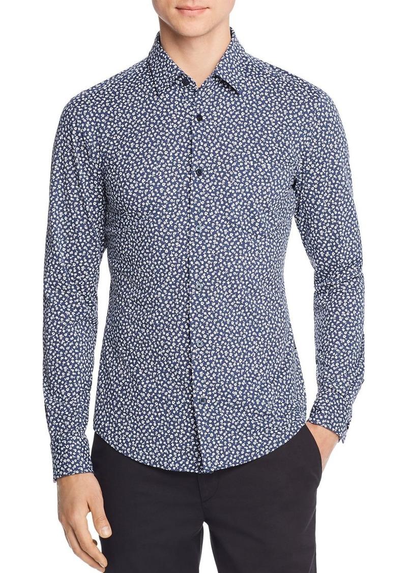 Hugo Boss BOSS Ronni Floral-Print Jersey Slim Fit Shirt