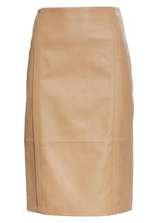 BOSS Hugo Boss Sepassa Leather Pencil Skirt