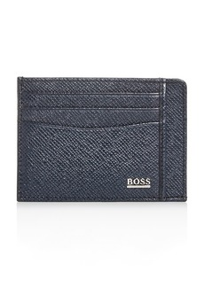 BOSS Hugo Boss Signature Leather Card Case