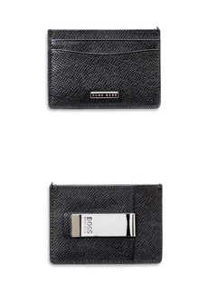 BOSS Hugo Boss Signature Money Clip Card Case
