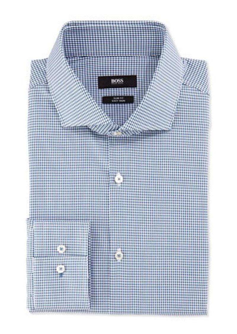 Hugo boss boss hugo boss slim fit easy iron mini check for Hugo boss slim dress shirt