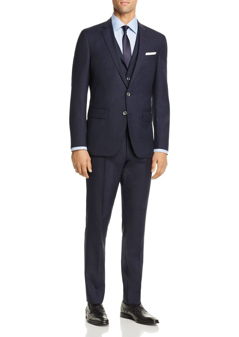 Hugo Boss BOSS Hutson/Gander Graphic Solid 3-Piece Slim Fit Suit