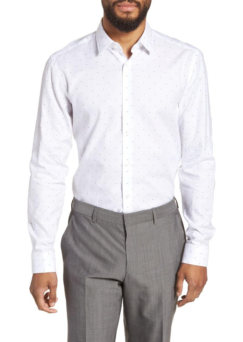 7bc4404f1 Hugo Boss BOSS Isko Slim Fit Dot Dress Shirt | Casual Shirts