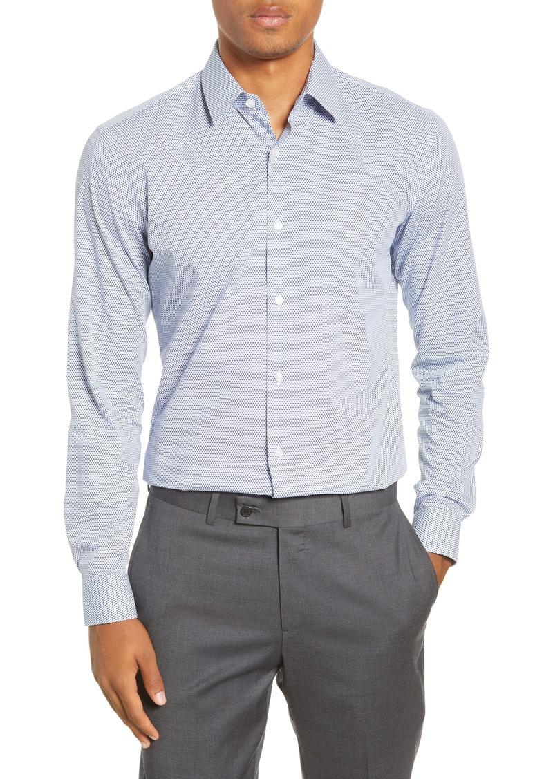 Hugo Boss BOSS Isko Slim Fit Geometric Dress Shirt