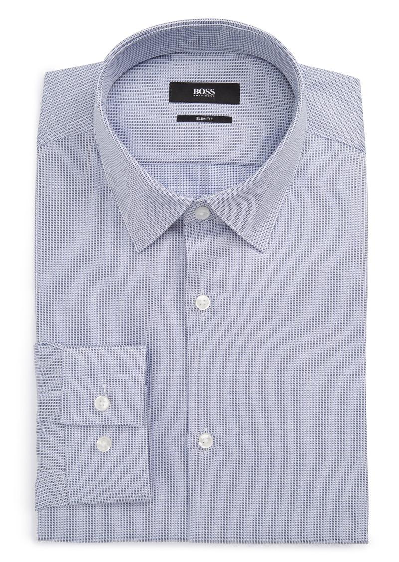 Hugo boss boss isko slim fit print dress shirt shop it to me for Hugo boss dress shirts