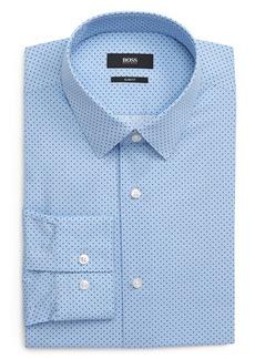 Hugo Boss BOSS Isko Slim Fit Print Dress Shirt