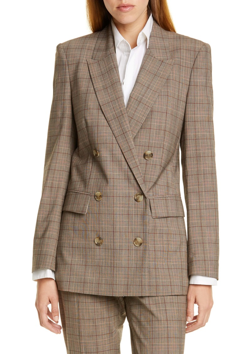 BOSS Jalorra Glen Check Double Breasted Stretch Wool Suit Jacket (Nordstrom Exclusive)