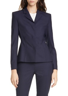 Hugo Boss BOSS Jandila Shadow Check Wool Blend Jacket