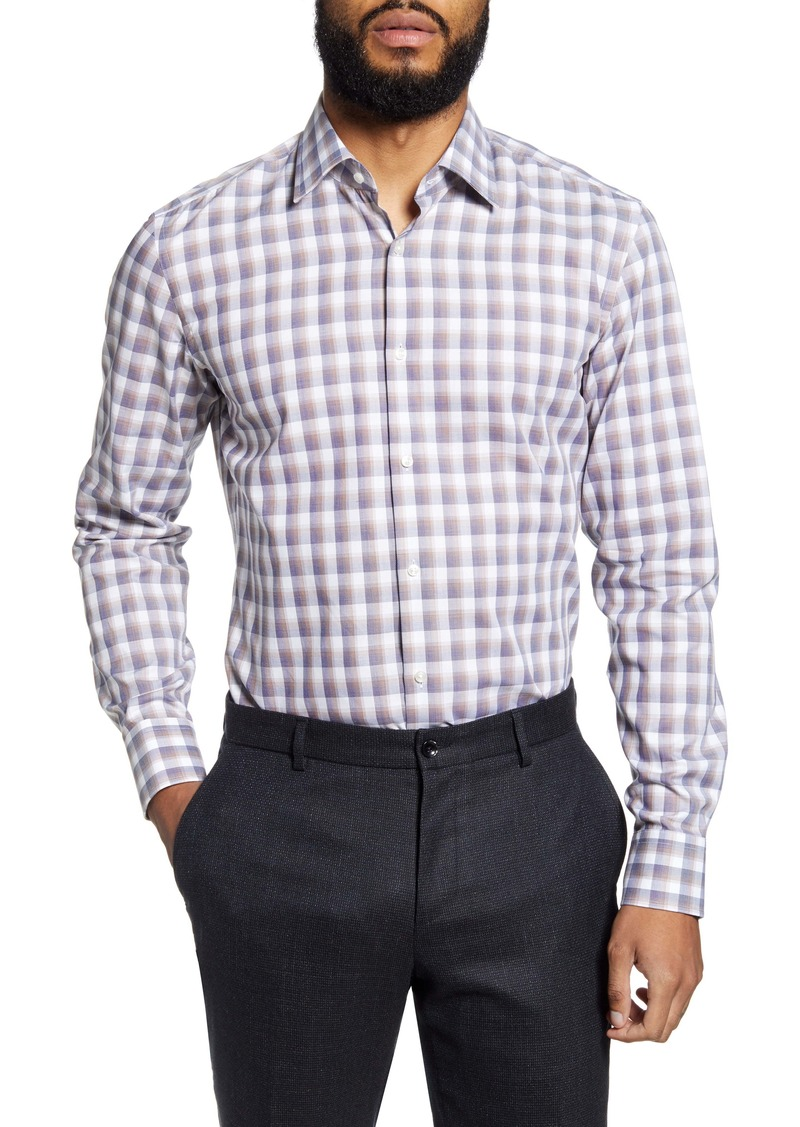 Hugo Boss BOSS Jango Slim Fit Plaid Dress Shirt