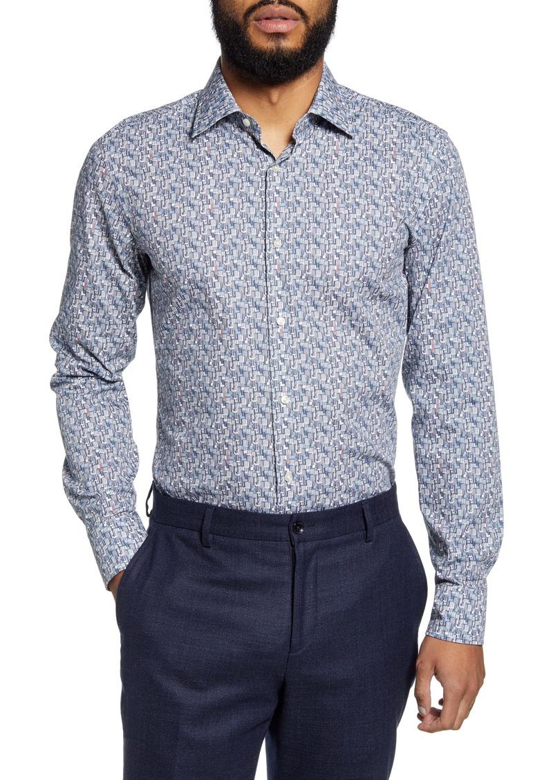 Hugo Boss BOSS Jango Slim Fit Print Dress Shirt