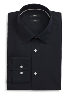 Hugo Boss BOSS Jano Slim Fit Easy Iron Solid Dress Shirt