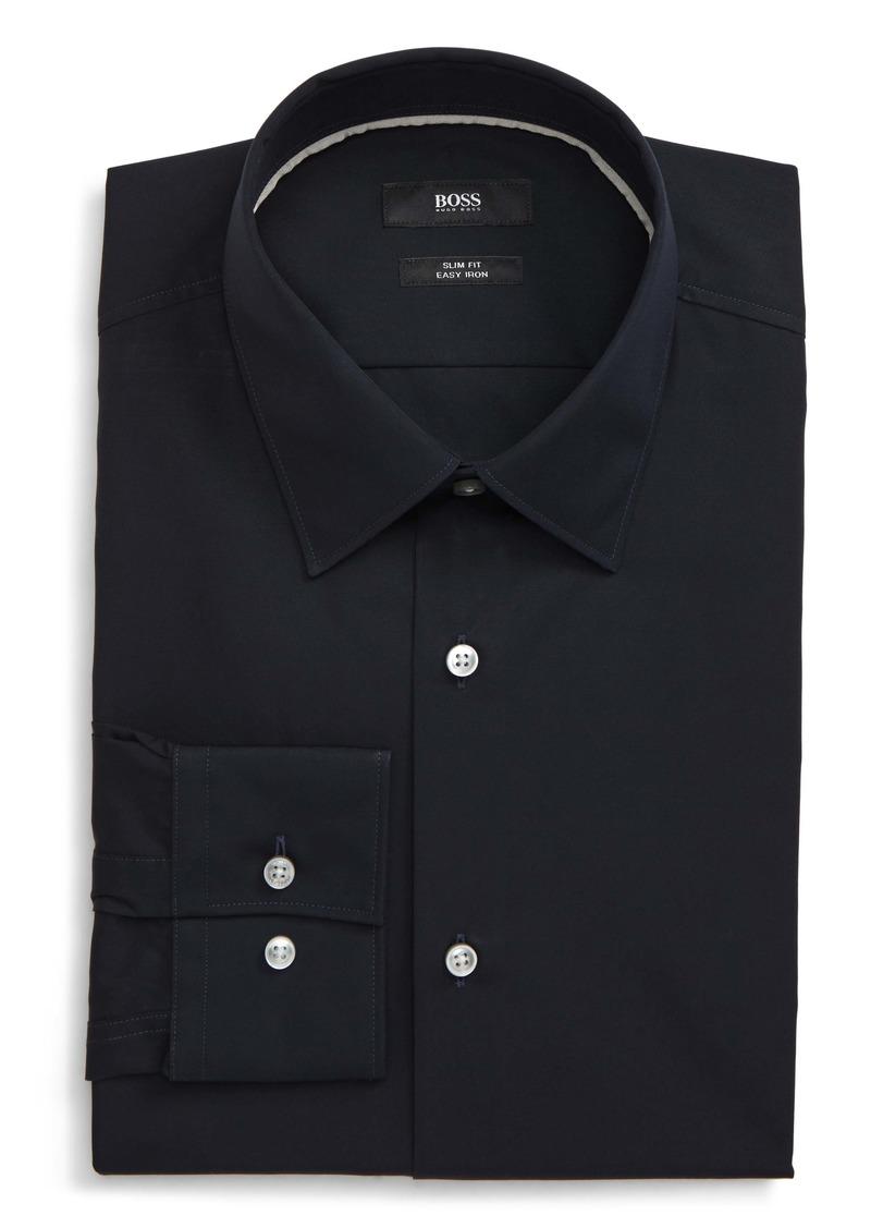 Hugo Boss BOSS Jano Slim Fit Easy Iron Solid Dress Shirt