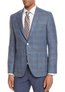 Hugo Boss BOSS Janson Regular Fit Windowpane Plaid Sport Coat