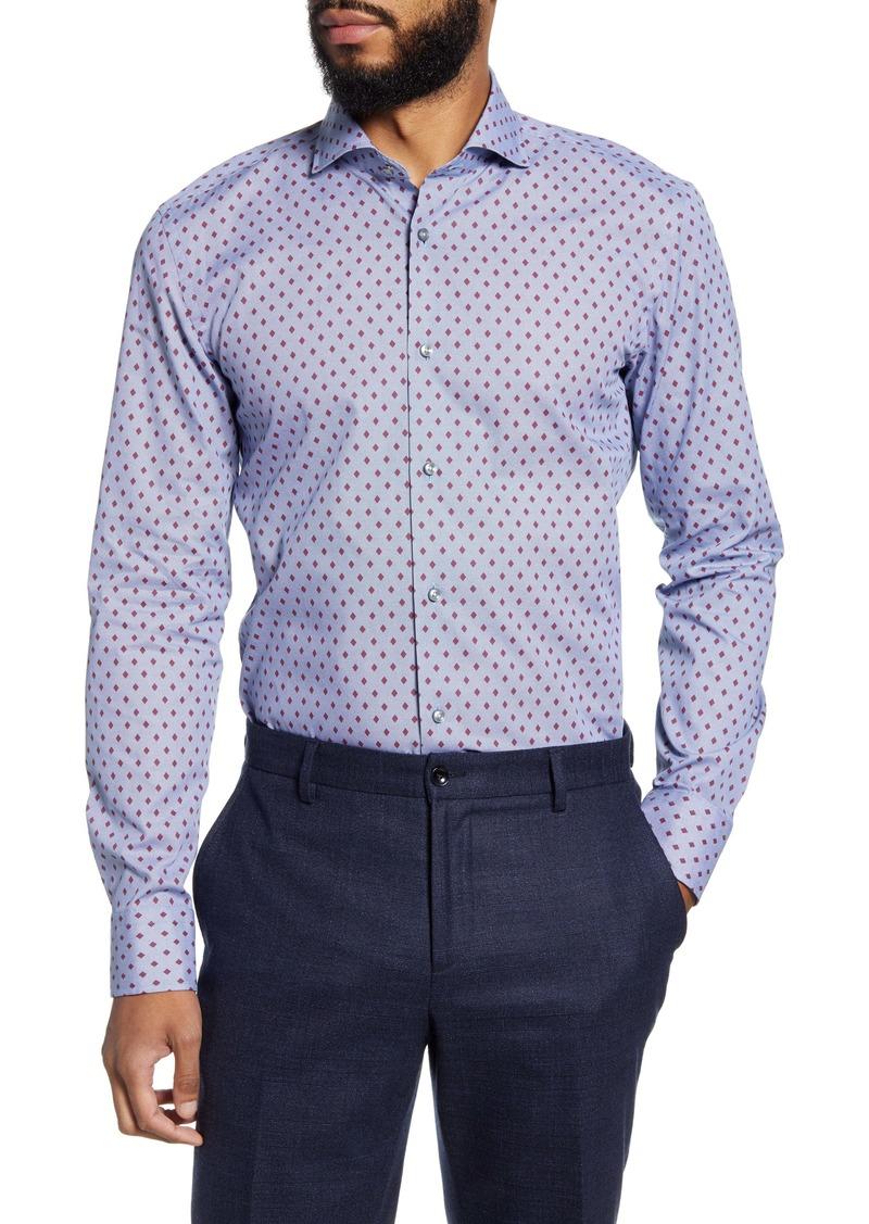 Hugo Boss BOSS Jason Slim Fit Diamond Dress Shirt