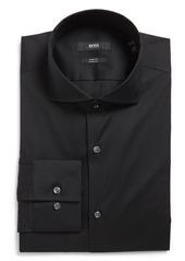Hugo Boss BOSS Jason Slim Fit Solid Cotton Blend Dress Shirt