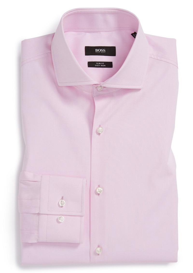 Hugo boss boss 39 jason 39 ww slim fit easy iron solid dress for Hugo boss jason shirt